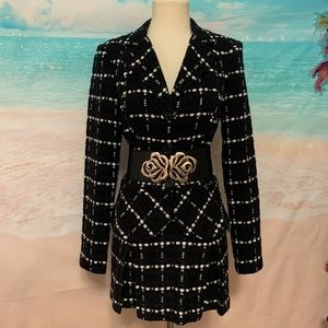 Vintage 2 piece Ruffle Skirt Suit